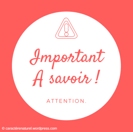Attention - A Savoir